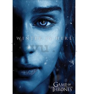 Plakát - Game of Thrones (Winter is Here - Daenerys)