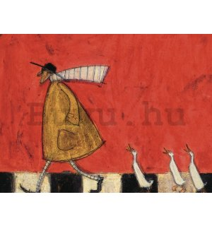 Vászonkép - Sam Toft, Crossing with Ducks