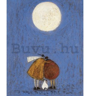 Vászonkép - Sam Toft, A Moon to Call Their Own