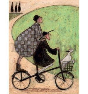 Vászonkép - Sam Toft, Double Decker Bike