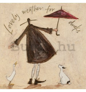 Vászonkép - Sam Toft, Lovely Weather for Ducks