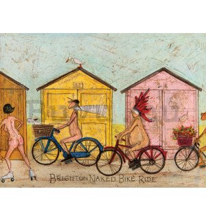 Vászonkép - Sam Toft, Brighton Naked Bike Ride