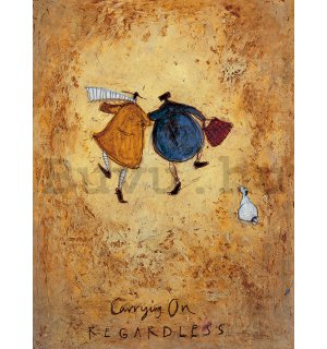 Vászonkép - Sam Toft, Carrying on Regardless