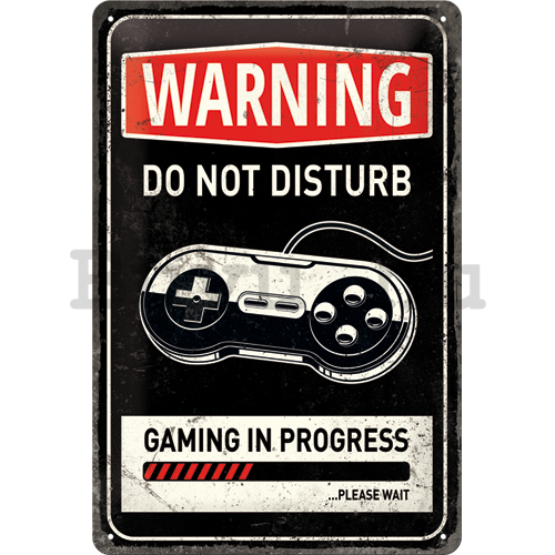 Fémtáblák: Warning Do Not Disturb - 30x20 cm