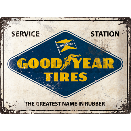 Fémtáblák: Good Year Tires (Service Station) - 30x40 cm