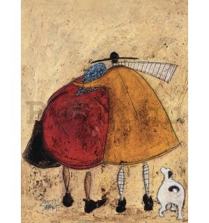 Vászonkép - Sam Toft, Hugs on the Way Home