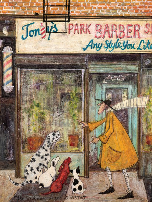 Vászonkép - Sam Toft, The Barber Shop Quartet