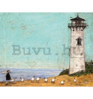 Vászonkép - Sam Toft, Seven Sisters and a Lighthouse