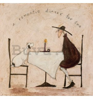 Vászonkép - Sam Toft, A Romantic Dinner For Two