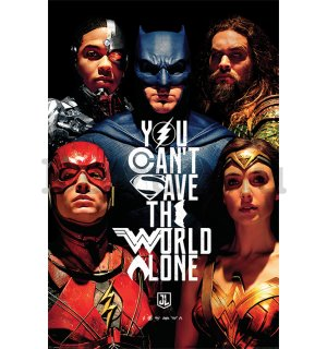 Plakát - Justice League (You Can't Save the World Alone)