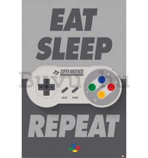 Plakát - Nintendo Eat Sleep Repeat