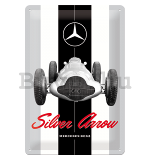 Fémtáblák: Mercedes-Benz Silver Arrow - 30x20 cm