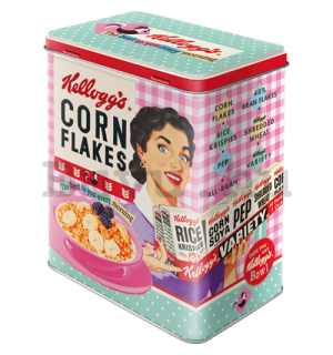 Fémdoboz L - Kellogg's Happy Hostess Corn Flakes