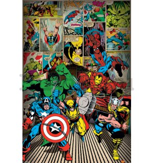 Plakát - Marvel Comics, Here Come The Heroes