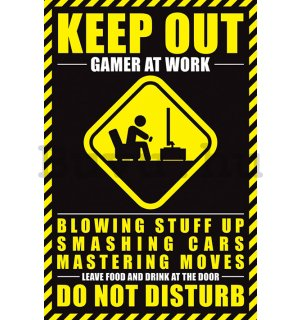 Plakát - Keep Out, Gamer at Work