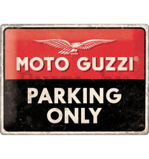 Fémtáblák: Moto Guzzi Parking Only - 40x30 cm