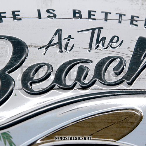 Fémtáblák: VW Life is Better at the Beach - 30x20 cm