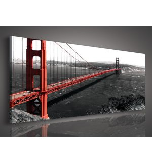 Vászonkép: Golden Gate Bridge (1) - 145x45 cm