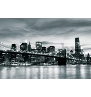 Fotótapéta: Brooklyn Bridge (feket - 104x152,5 cm