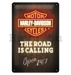 Fémtáblák: Harley-Davidson (The Road is Calling) - 30x20 cm