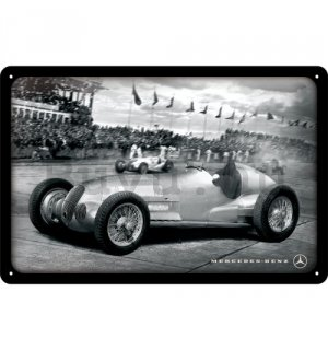Fémtáblák: Mercedes-Benz Silver Arrow Racing - 20x30 cm