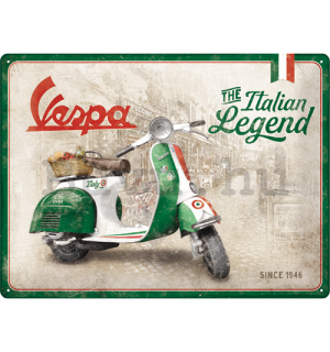 Fémtáblák: Vespa (The Italian Legend) - 30x40 cm