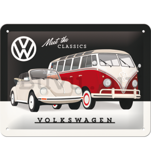 Fémtáblák: VW Meet The Classics - 15x20 cm