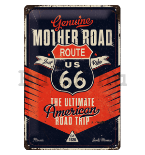 Fémtáblák: Route 66 (The Ultimate Road Trip) - 20x30 cm