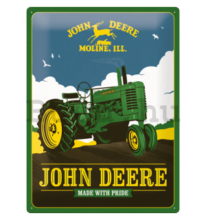 Fémtáblák: John Deere (Made With Pride) - 30x40 cm