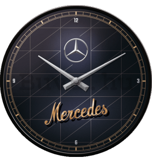 Retró óra - Mercedes-Benz (Silver & Gold)