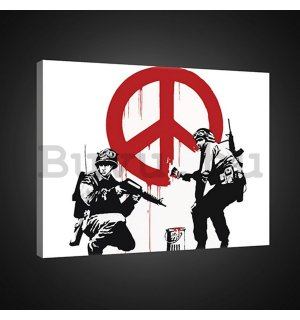 Vászonkép: Make Peace, not War (graffiti) - 75x100 cm