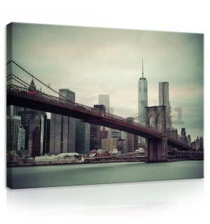 Vászonkép: Brooklyn Bridge (2) - 75x100 cm