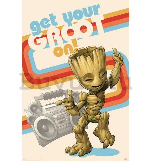Plakát - Guardians Of The Galaxy (Get Your Groot On)