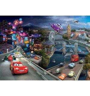Vlies fotótapéta: Cars II London - 160x110 cm