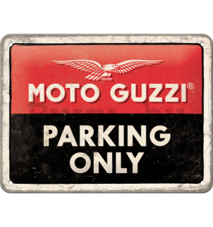 Fémtáblák: Moto Guzzi Parking Only - 20x15 cm