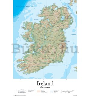 Plakát - Ireland Map