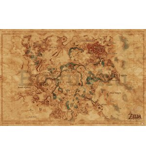 Plakát - The Legend Of Zelda: Breath Of The Wild (Hyrule World Map)