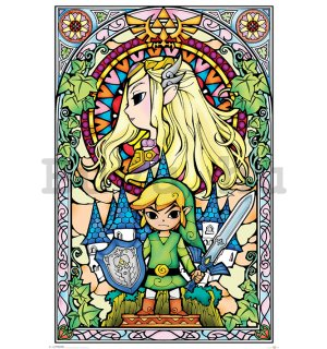 Plakát The Legend Of Zelda (Stained Glass)