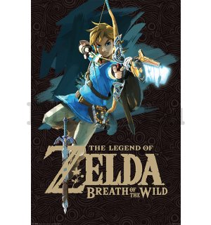 Plakát Zelda Breath Of The Wild