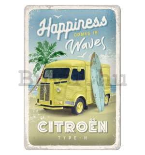 Fémtáblák: Citroën Type H (Happiness Comes In Waves) - 20x30 cm