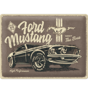 Fémtáblák: Ford Mustang (The Boss) - 40x30 cm