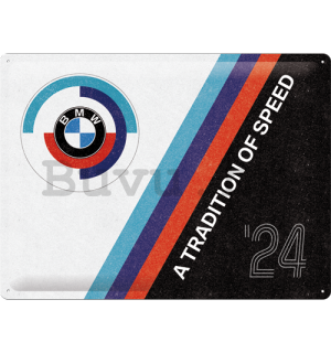 Fémtáblák: BMW Motorsport (Tradition Of Speed) - 40x30 cm