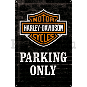 Fémplakát - Harley-Davidson (Parking Only)