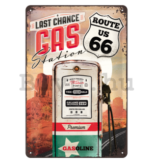 Fémtáblák: Route 66 (Gas Station) - 30x20 cm