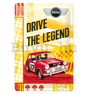 Fémtáblák – Mini Cooper (Drive the Legend)