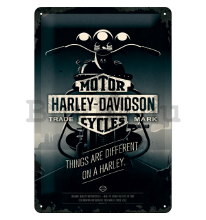 Fémtáblák - Harley-Davidson (Things Are Different on a Bike)