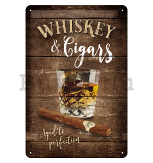 Fémtáblák - Whiskey & Cigars