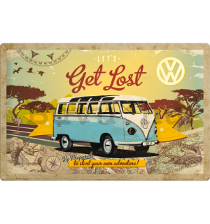 Fémplakát - VW Let's Get Lost
