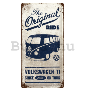Fémplakát: VW The Original Ride - 50x25 cm