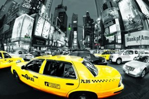 Plakát - NYC Taxis (Times Square) (1)